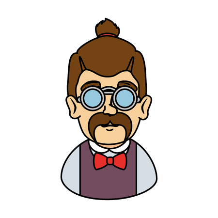 man hipster with mustache and glasses vector illustration design Zdjęcie Seryjne - 127641681