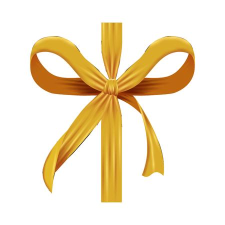 golden bow ribbon tape decorative vector illustration design Archivio Fotografico - 127641760