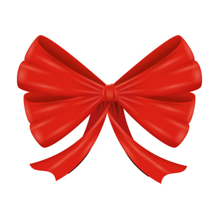 red bow ribbon tape decorative vector illustration design Ilustração