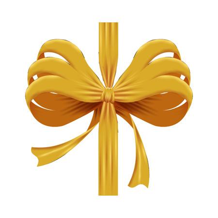 golden bow ribbon tape decorative vector illustration design Archivio Fotografico - 127641786
