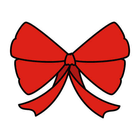 red bow ribbon tape decorative vector illustration design Иллюстрация
