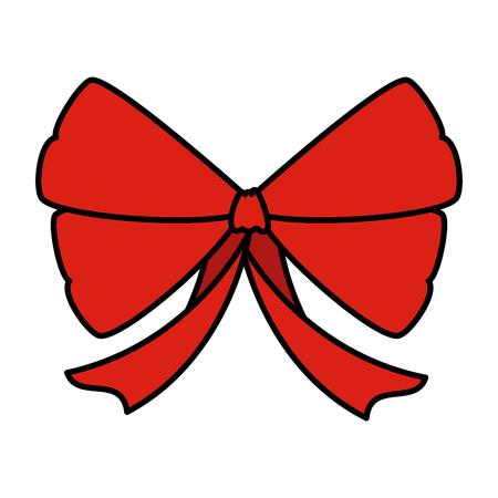 red bow ribbon tape decorative vector illustration design Illustration