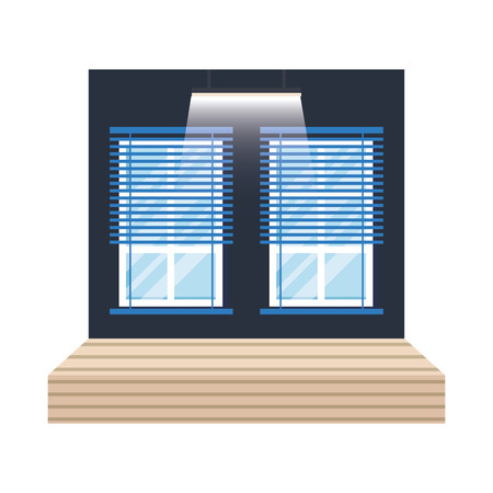 workplace office scene icon vector illustration design 向量圖像