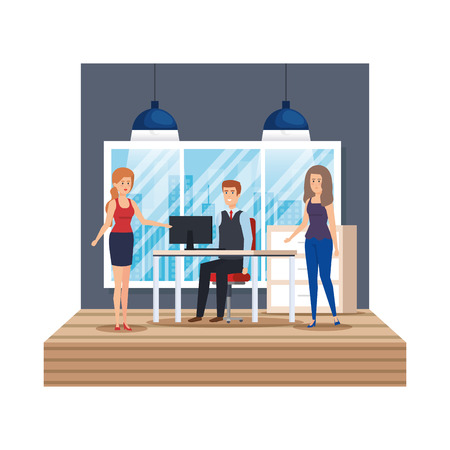 group of business people in the office vector illustration design 版權商用圖片 - 127641938
