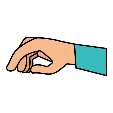 hand human giving icon vector illustration design Çizim