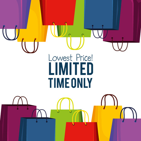 shopping bags to special online sale vector illustration Stock Vector - 127642021