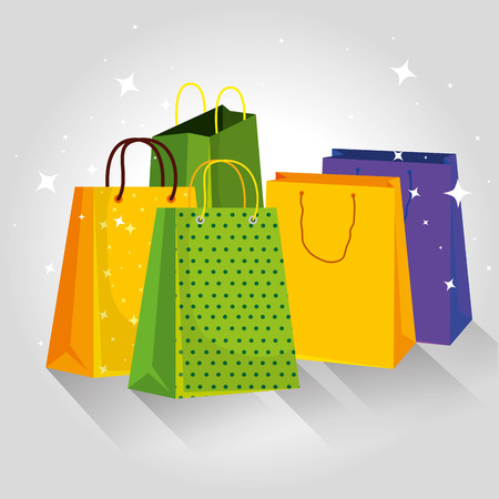 shopping bags special sale price vector illustration Illustration