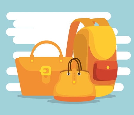 handbags with backpack to special sale offer vector illustration 写真素材 - 112186532