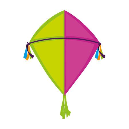 cute kite flying icon vector illustration design Ilustração