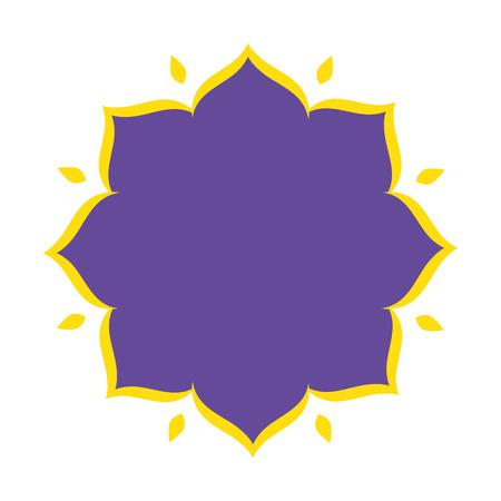 elegant floral frame icon vector illustration design
