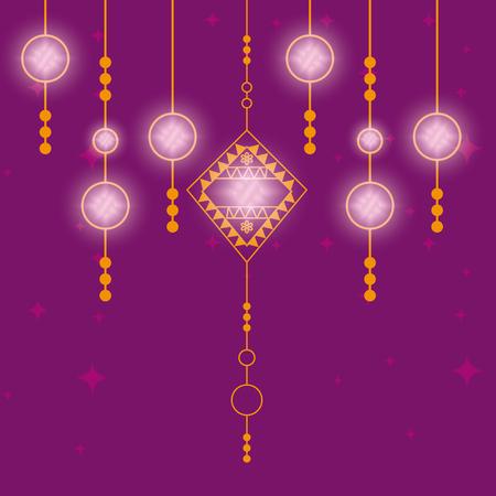 lohri decoration hanging icon vector illustration design