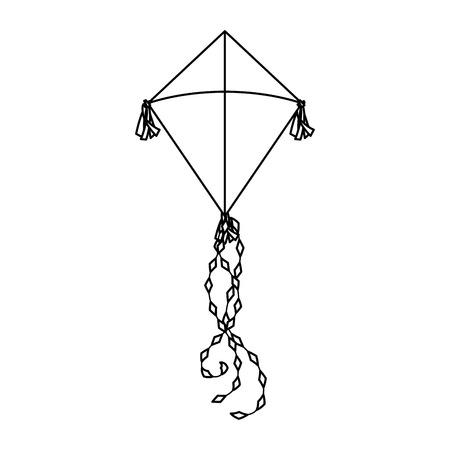 Diseño lindo del ejemplo del vector del icono del vuelo de la cometa Ilustración de vector