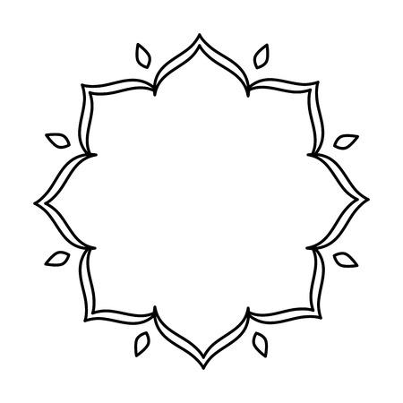 elegant floral frame icon vector illustration design Archivio Fotografico - 127643189