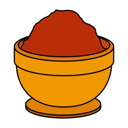 bowl with sesame seeds vector illustration design Illustration