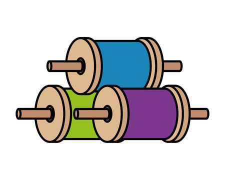 rolls of thread for kite vector illustration design Illustration