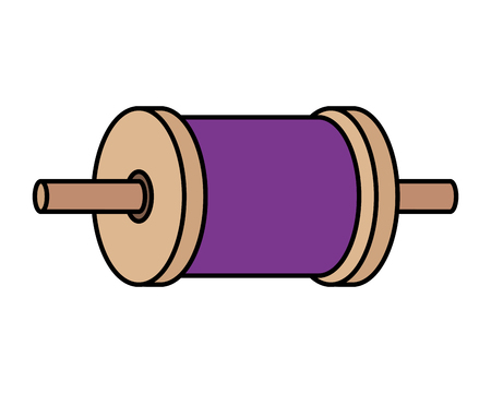 roll of thread for kite vector illustration design Illustration