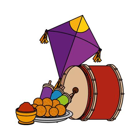 happy lohri celebration icons vector illustration design Stock Vector - 112239763
