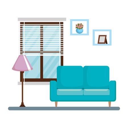 Sala de estar casa lugar diseño ilustración vectorial