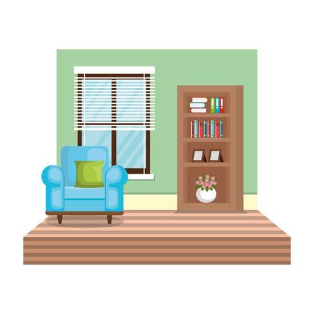living room house place vector illustration design