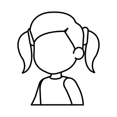 beautiful little girl character vector illustration design Illusztráció