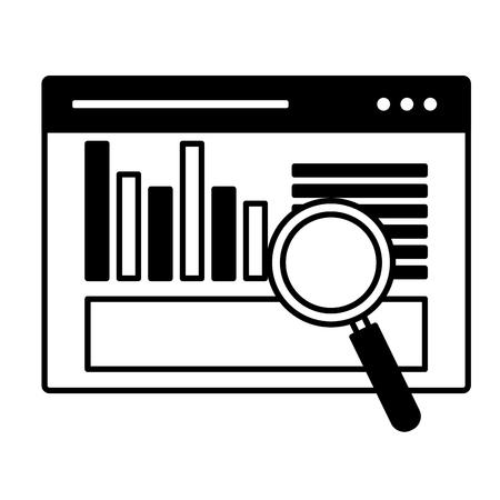illustration vectorielle d'optimisation de moteur de recherche d'analyse de site Web Vecteurs