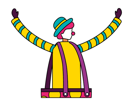 clown character circus fun fair vector illustration Ilustracja