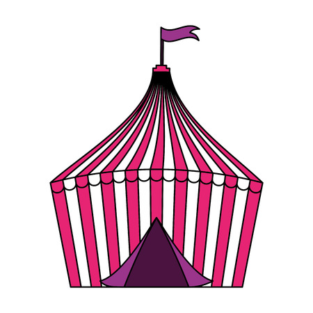 tent circus fun fair on white background vector illustration