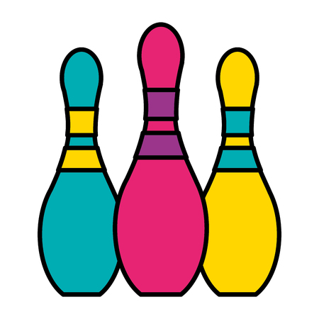 bowling pins on white background vector illustration Ilustração