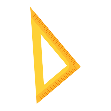 triangle ruler education school on white background vector illustration