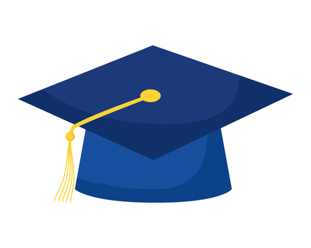 graduation hat education school on white background vector illustration