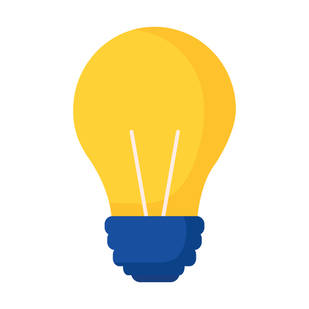 light bulb on white background vector illustration