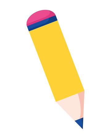 pencil object supply education school vector illustration Illustration