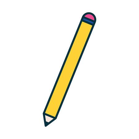 L'école de l'éducation de l'approvisionnement de l'objet crayon vector illustration Vecteurs