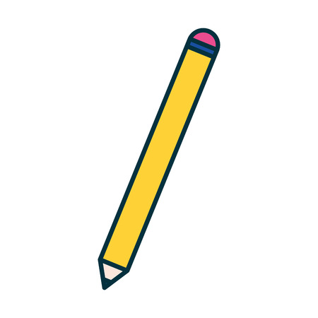 pencil object supply education school vector illustration Vettoriali