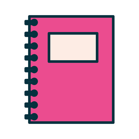 notebook with spiral education supplies school vector illustration Иллюстрация