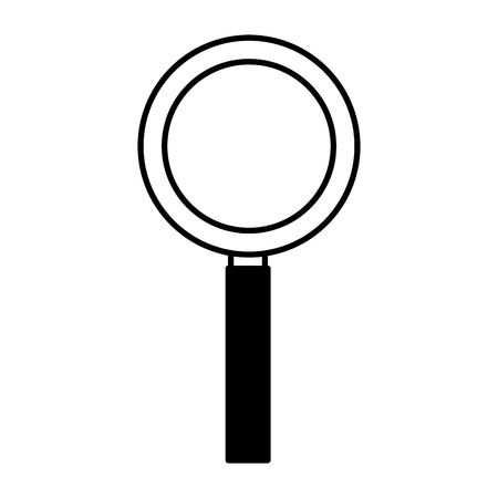 magnifying glass education school on white background vector illustration