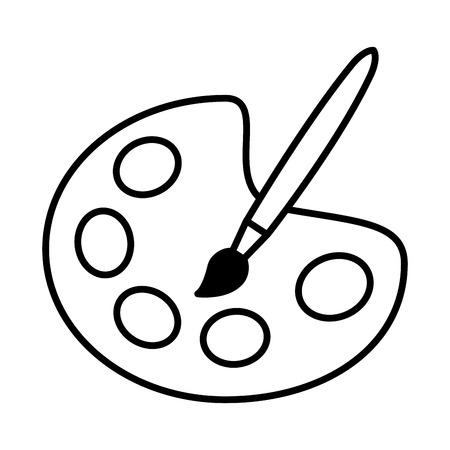 paleta kolor edukacja szkoła na białym tle ilustracji wektorowych Ilustracje wektorowe