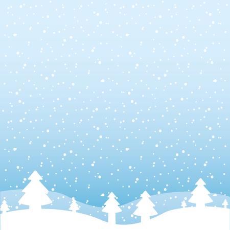 Winterlandschaft Schnee Baum Wald Vektor Illustration Vektorgrafik