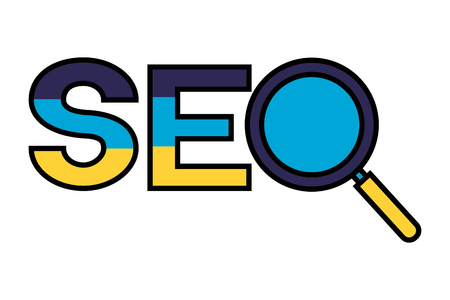 search engine optimization analysis system vector illustration