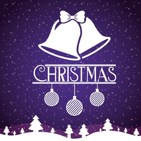 merry christmas invitation card celebration vector illustration Illustration