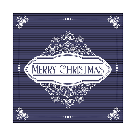 merry christmas greeting card template vector illustration Stock Vector - 127604286