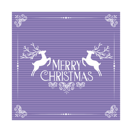 merry christmas greeting card template vector illustration Stock Vector - 127604295