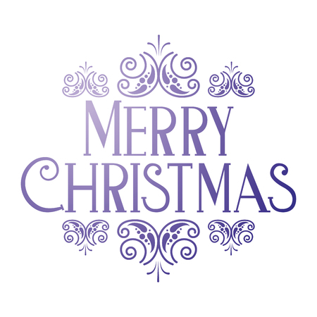 merry christmas greeting card template vector illustration Stock Vector - 127604315