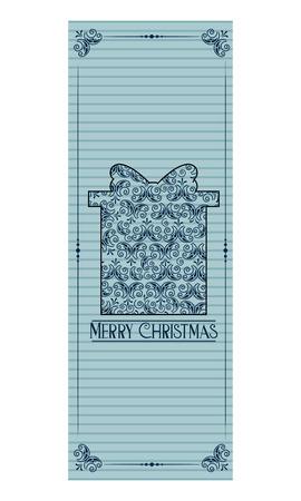 merry christmas decoration bookmark gift vector illustration