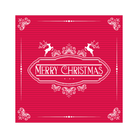 merry christmas greeting card template vector illustration Stock Vector - 127560962