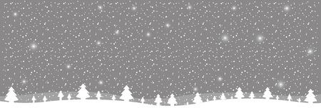 winter ladscape snow tree forest vector illustration vector illustration