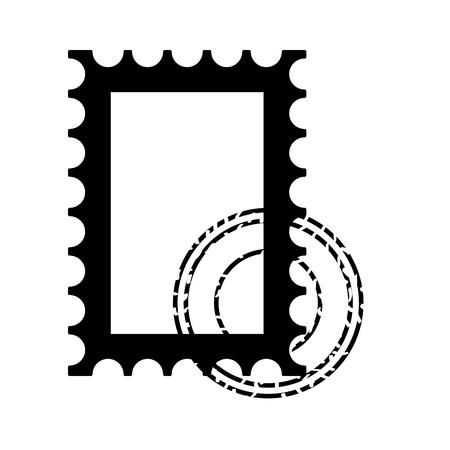 blank postage stamp on white background vector illustration Banco de Imagens - 127560972