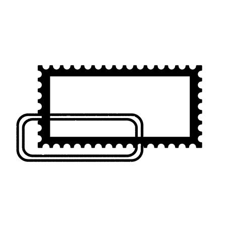 blank postage stamp on white background vector illustration Banco de Imagens - 127560973