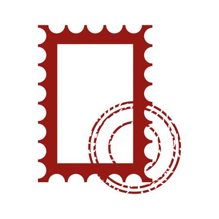 blank postage stamp on white background vector illustration