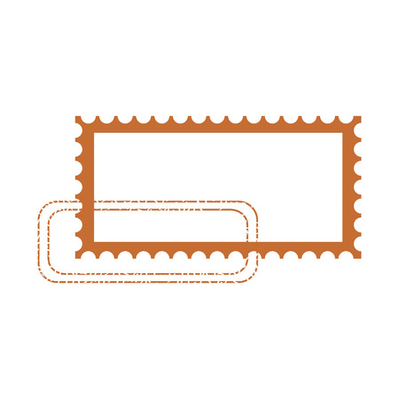 blank postage stamp on white background vector illustration